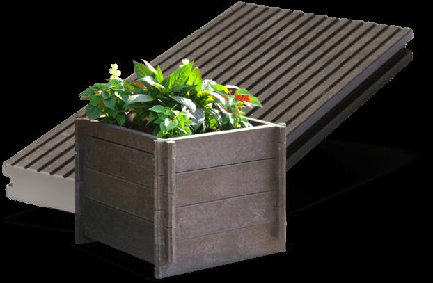 plastic wood litter bin 24