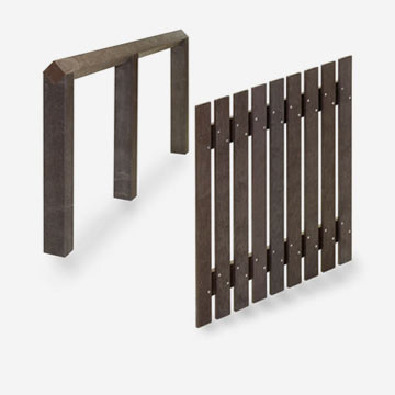 plastic wood fences
