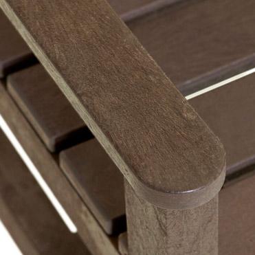 plastic wood bench arm rest
