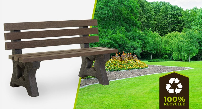 recycled plastic bench 4