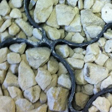 eco ground reinforcement with stones
