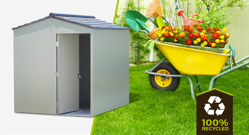 100% recycled plastic shed