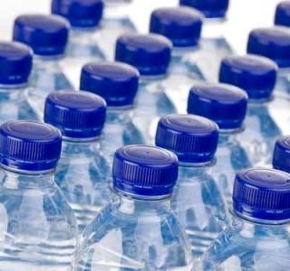 plastic bottles lined up