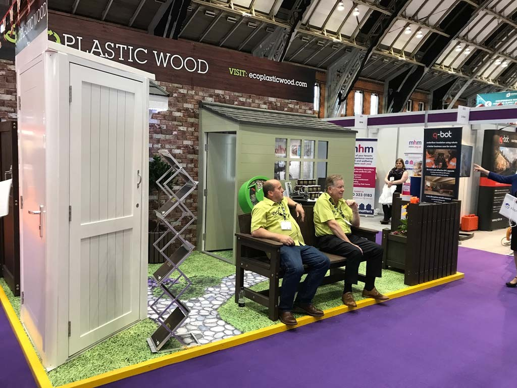 Eco Plastic Wood Stand At Housing 2017 2